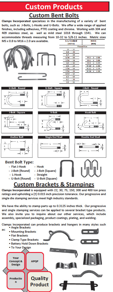 Bent Threaded Bolts Cut or roll thread