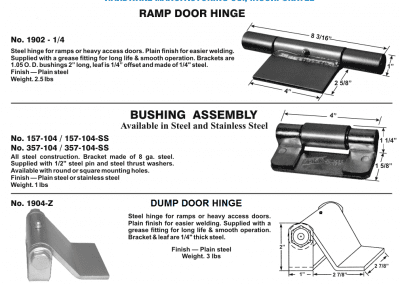 Dump Body Trailer Hinge