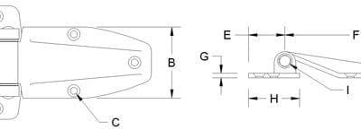 Polished SS Strap Hinge (HTD, HTB)