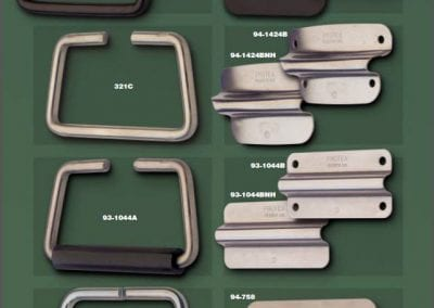 Wire Handles: Flat or Radius Plate