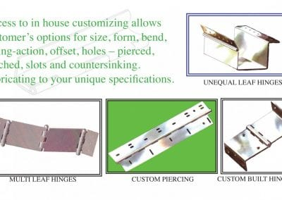 Custom Designed Hinges
