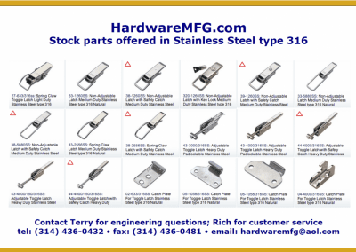 316 Stainless Steel Draw latches
