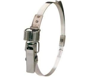 250-295mm Diameter Hi-Grip Spring Claw Mild Steel Quick Release Bandclamp Zinc Plate Passivate
