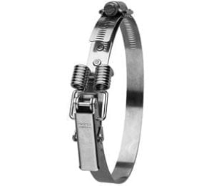 250-295mm Diameter Hi-Torque Spring Claw Stainless Steel Quick Release Bandclamp