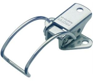 18-1645MSZN: Spring Claw Toggle Latch Light Duty Mild Steel Zinc Plate Passivate (Silver Blue)