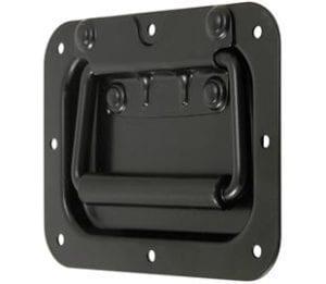97-596MSBL- Recessed Spring Loaded Handle Mild Steel Black