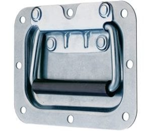 97-596MSZN- Recessed Spring Loaded Handle Mild Steel Zinc Plate Passivate (Silver Blue)