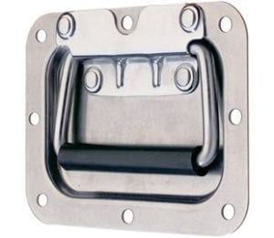 97-596SS- Recessed Spring Loaded Handle Stainless Steel (Natural)