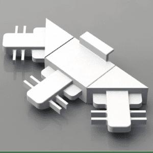 3 Position Starburst Muntin Joiner - Contour Bar - 5.5mm x 18mm
