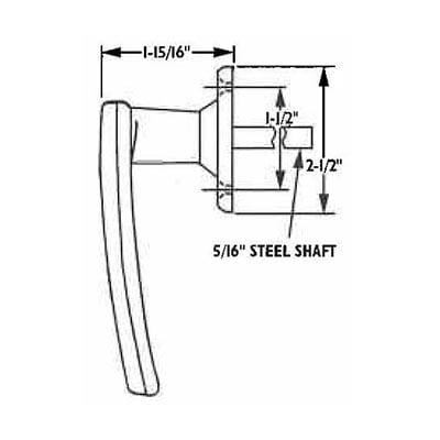 378, Non-Locking L-Handle drawing