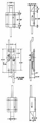6011-002, Two Point Deadbolt Rod Lock