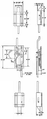 6013-002, Three Point Deadbolt Rod Lock