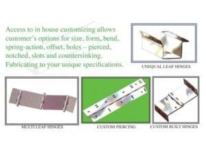 Custom Designed Hinges