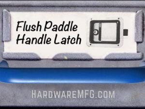 Flush Paddle Handle Latch